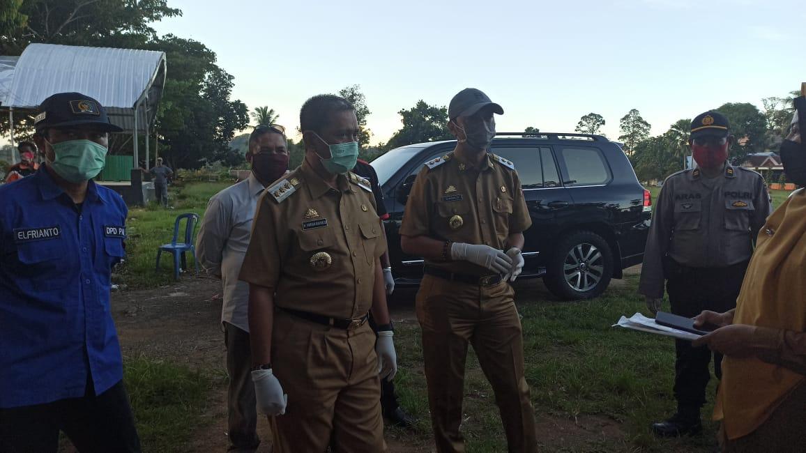 Antisipasi Covid 19, Bupati dan wakil Bupati Wajo Pantau Kesiapan Satgas di Perbatasan Wajo-Luwu