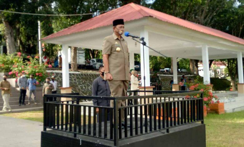 Apel  Gabungan Gelar Pasukan Operasi Penegakan Pendisiplinan Protokol Covid-19